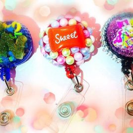 Frosted Badge Reels..Retractable Id Reel