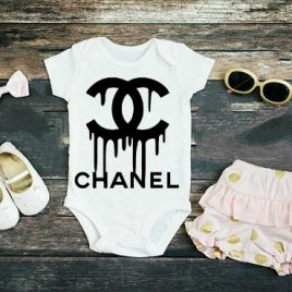 Chanel Inspired drip Onesie or Toddler Tee