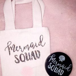 Mermaid Squad Mini Tote Bag