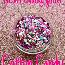 NEW! Cotton Candy Chunky glitter