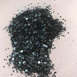 NEW! Black Star Glitter