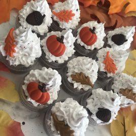 Fall Design Glitter Cupcake